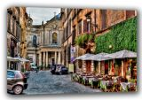 Beautiful City Street, Rome, Italy Art Canvas. Sizes: A3/A2/A1 (00798)